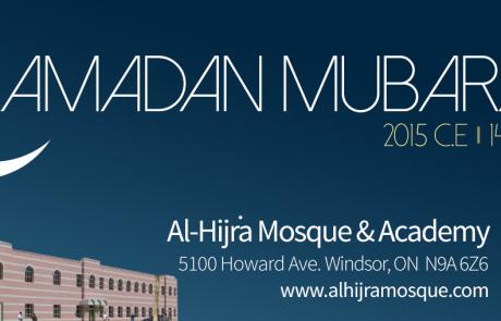 Ramadan Mubarak from Al-Hijra!